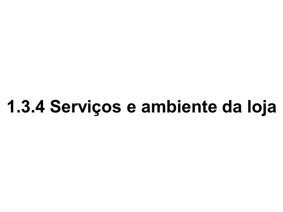 1.3.4 Serviços e ambiente da loja