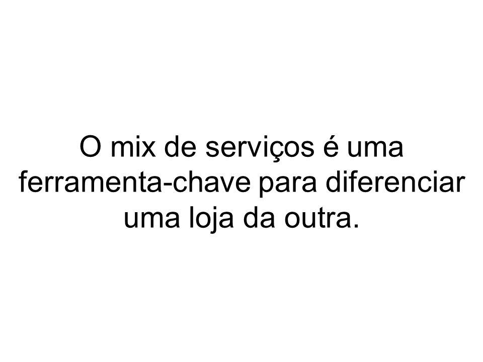 O mix de serviços é uma ferramenta-chave para diferenciar uma loja da outra.