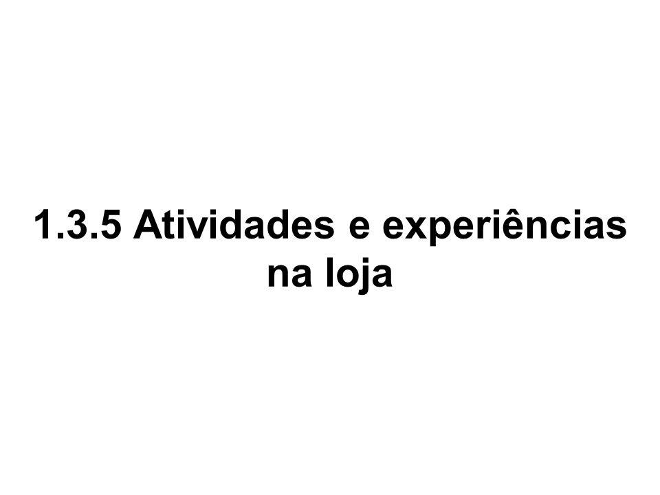 1.3.5 Atividades e experiências na loja
