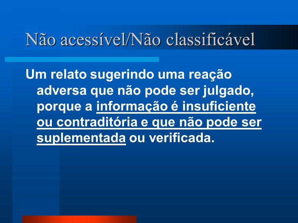 Não acessível/Não classificável