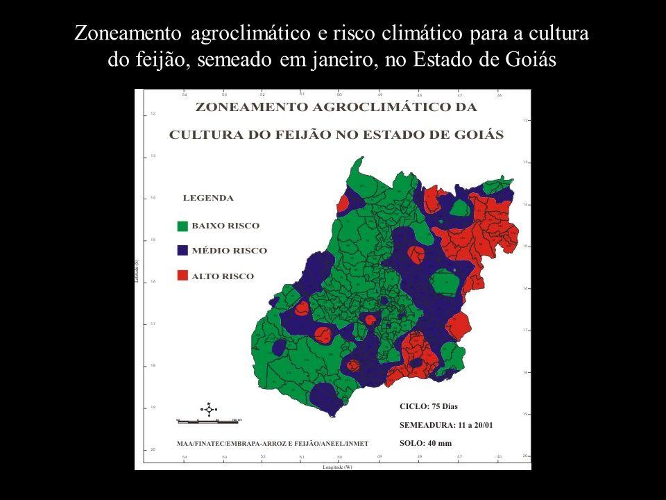 Zoneamento agroclimático e risco climático para a cultura do feijão, semeado em janeiro, no Estado de Goiás