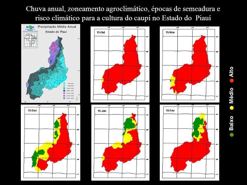 Chuva anual, zoneamento agroclimático, épocas de semeadura e risco climático para a cultura do caupí no Estado do Piauí