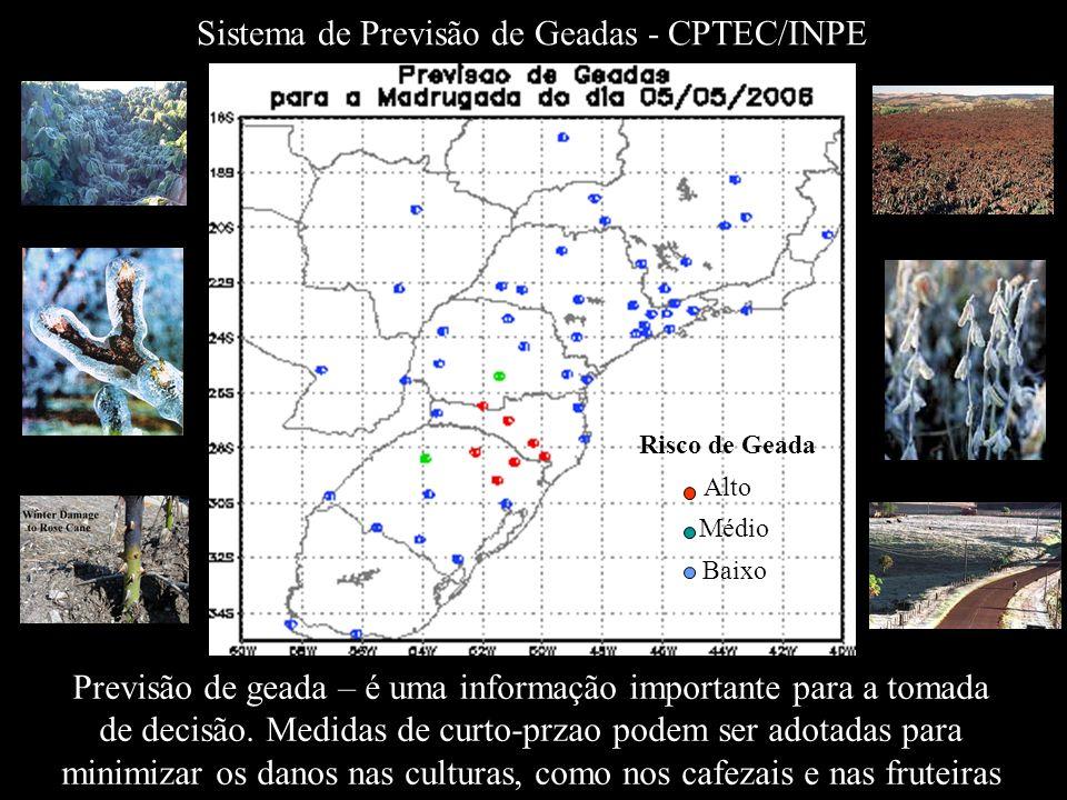 Sistema de Previsão de Geadas - CPTEC/INPE