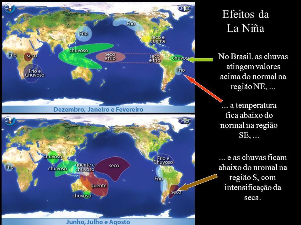 Efeitos da La Niña No Brasil, as chuvas atingem valores acima do normal na região NE, ...