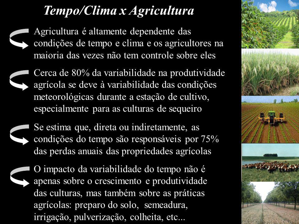 Tempo/Clima x Agricultura