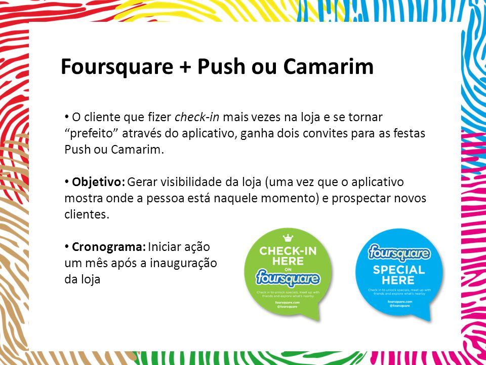 Foursquare + Push ou Camarim