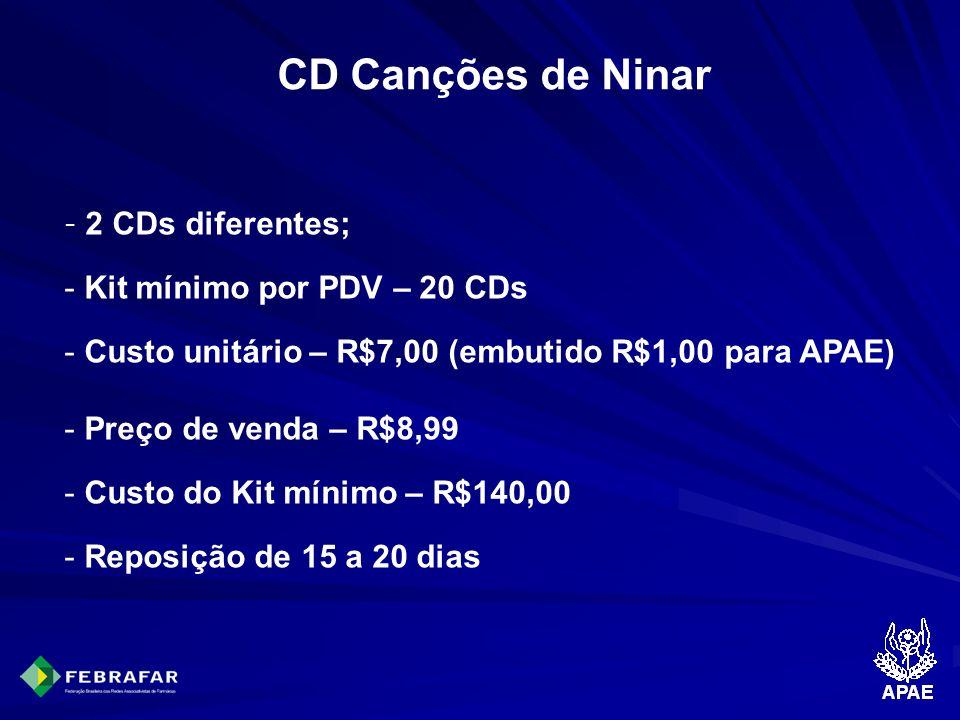 CD Canções de Ninar Kit mínimo por PDV – 20 CDs