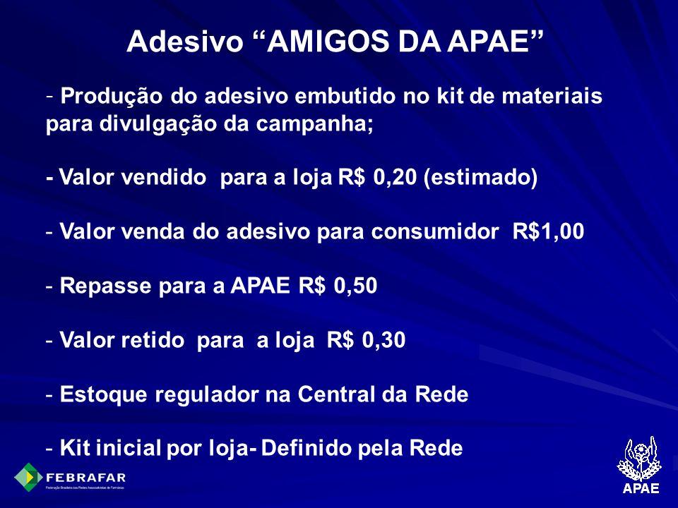Adesivo AMIGOS DA APAE