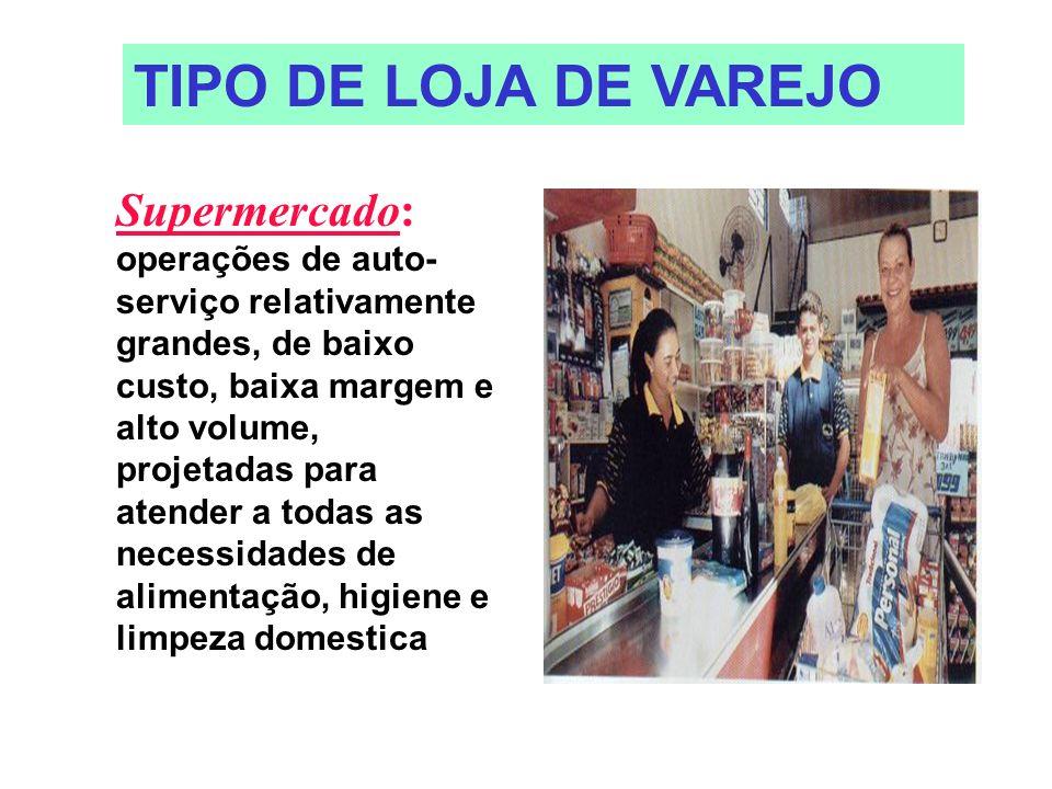 TIPO DE LOJA DE VAREJO
