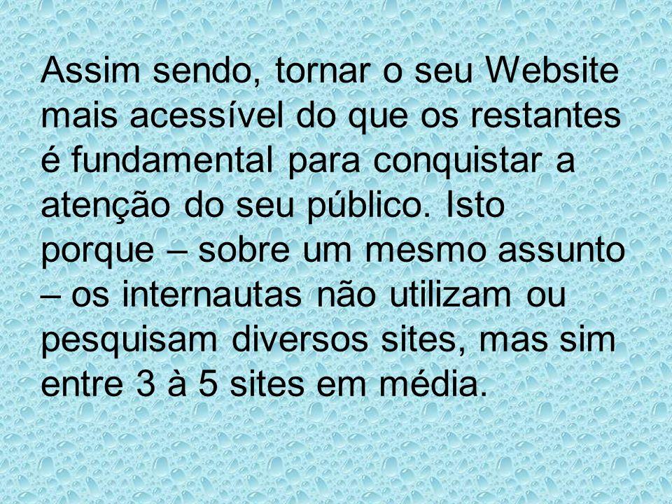 Assim sendo, tornar o seu Website mais acessível do que os restantes é fundamental para conquistar a atenção do seu público.