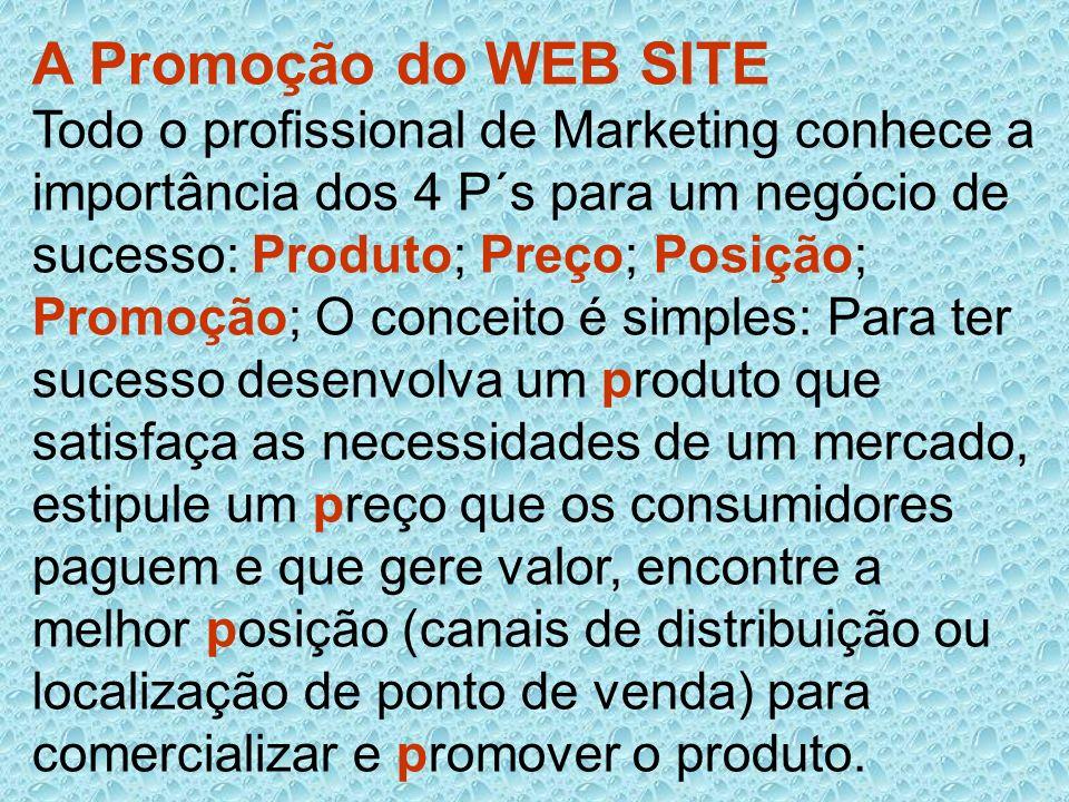A Promoção do WEB SITE