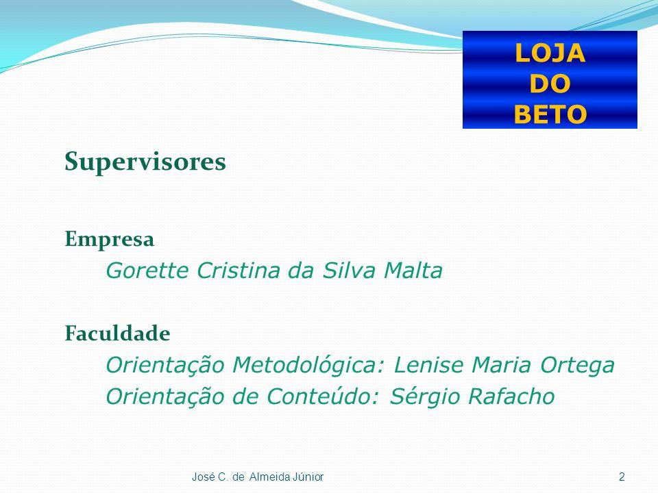 Supervisores LOJA DO BETO Empresa Gorette Cristina da Silva Malta