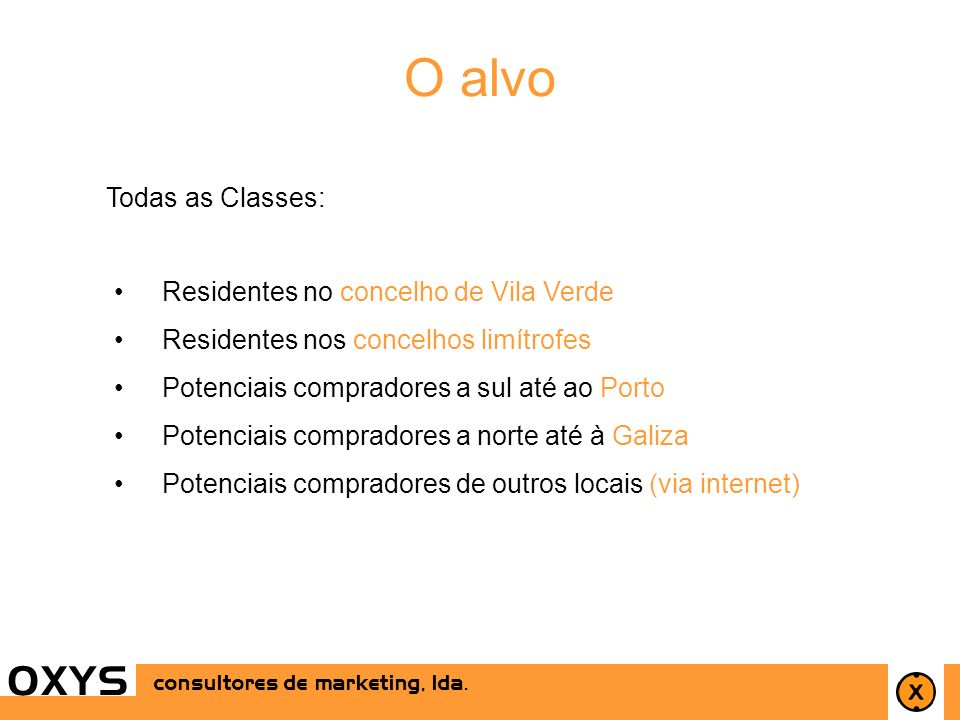 O alvo O X Y S Todas as Classes: Residentes no concelho de Vila Verde