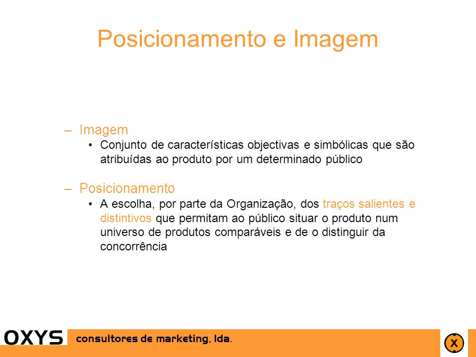 Posicionamento e Imagem