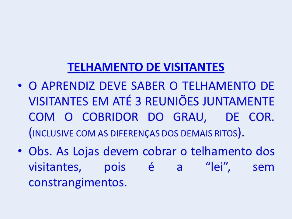 TELHAMENTO DE VISITANTES