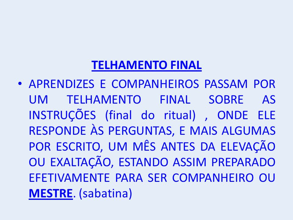 TELHAMENTO FINAL