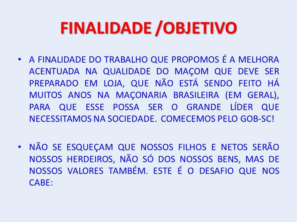FINALIDADE /OBJETIVO