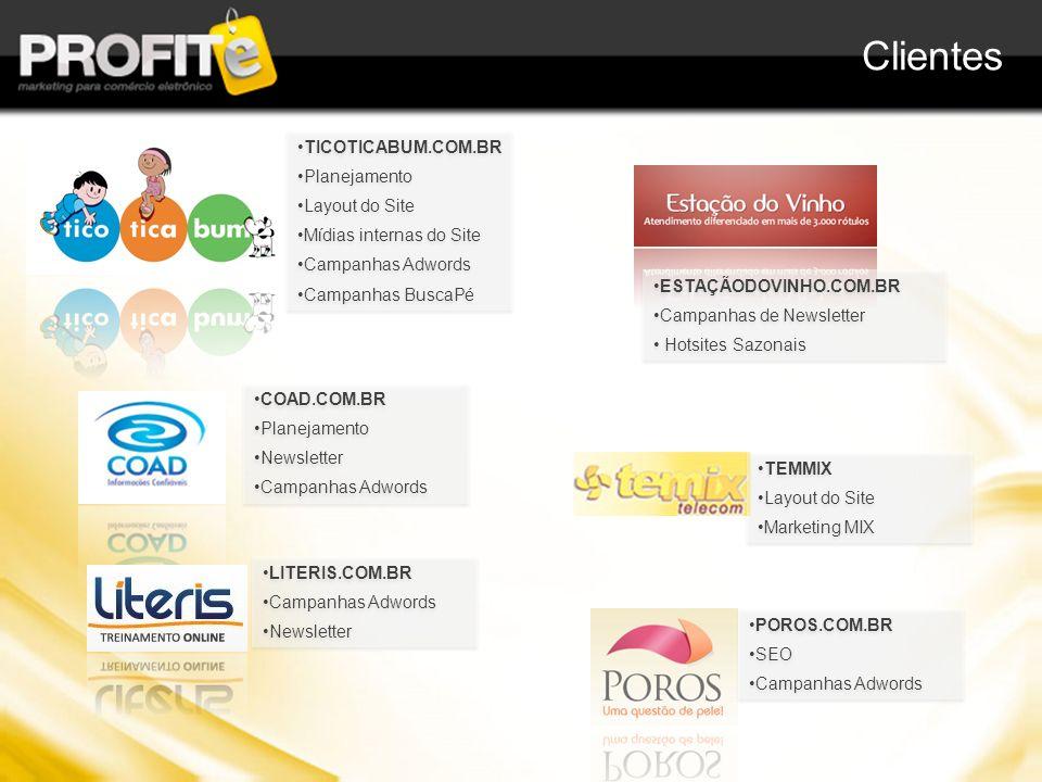 Clientes TICOTICABUM.COM.BR Planejamento Layout do Site