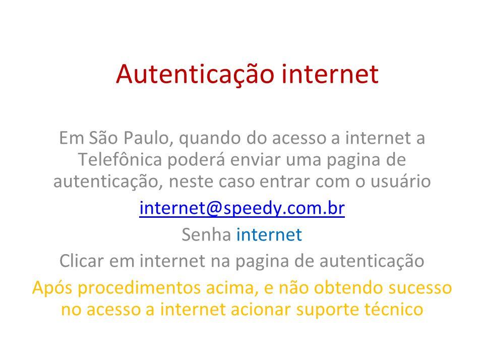 Autenticação internet