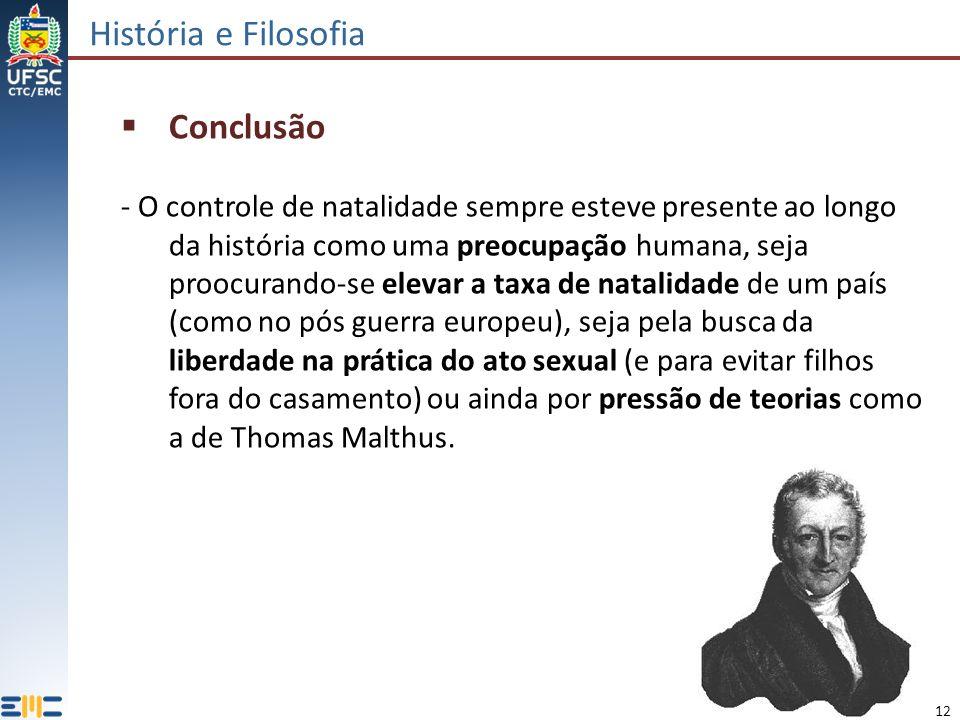 História e Filosofia Conclusão