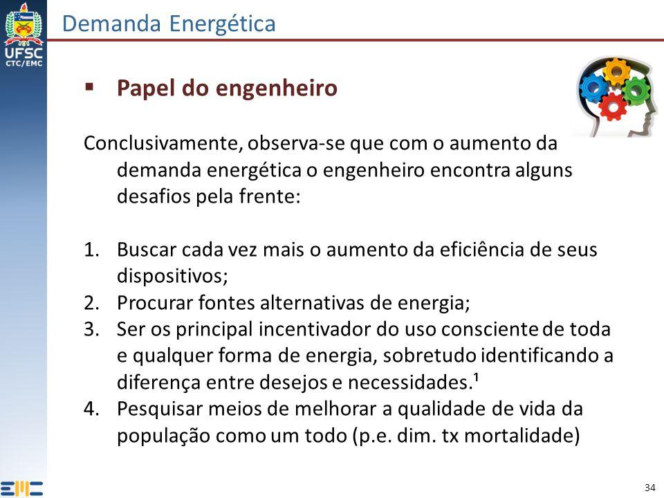 Demanda Energética Papel do engenheiro