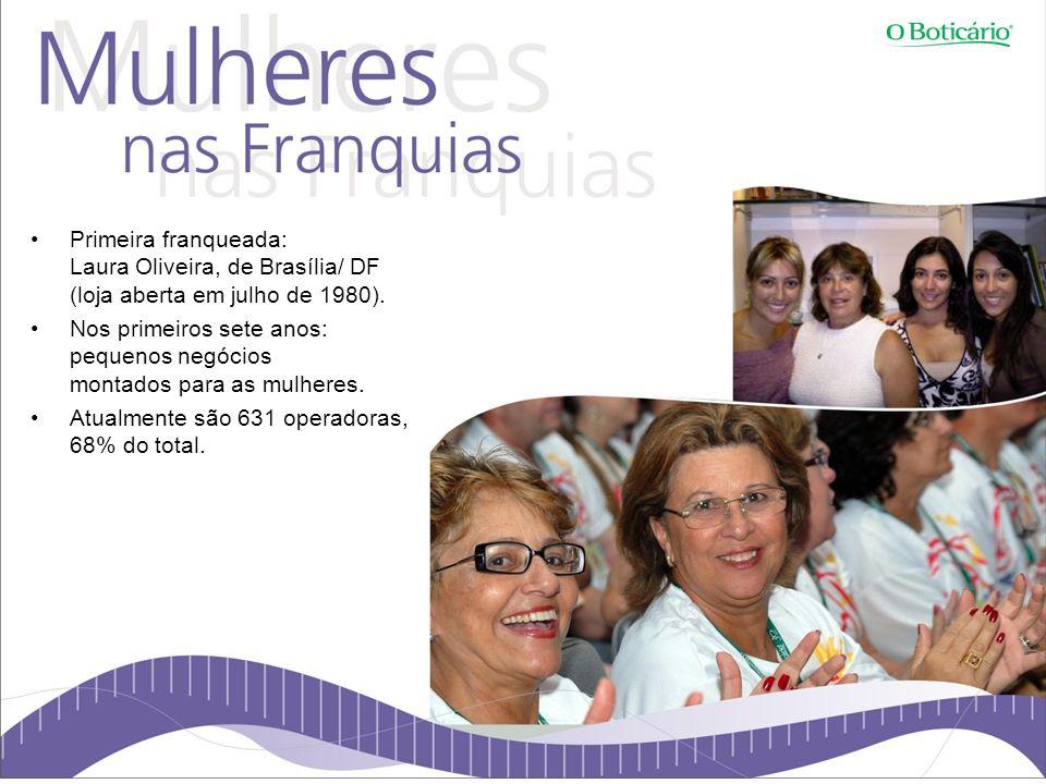 Primeira franqueada: Laura Oliveira, de Brasília/ DF (loja aberta em julho de 1980).