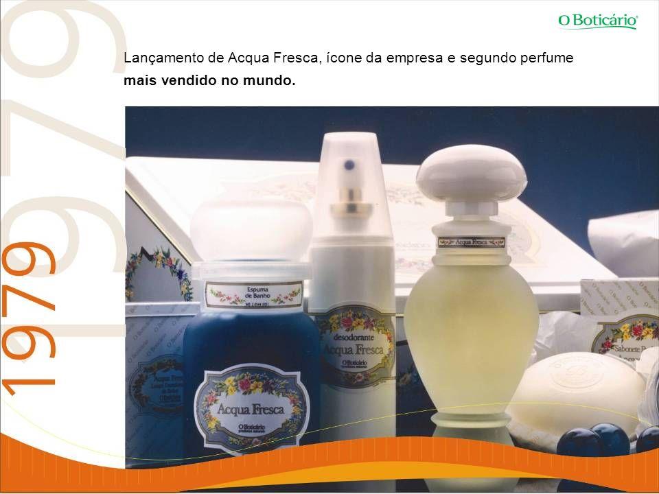 Lançamento de Acqua Fresca, ícone da empresa e segundo perfume