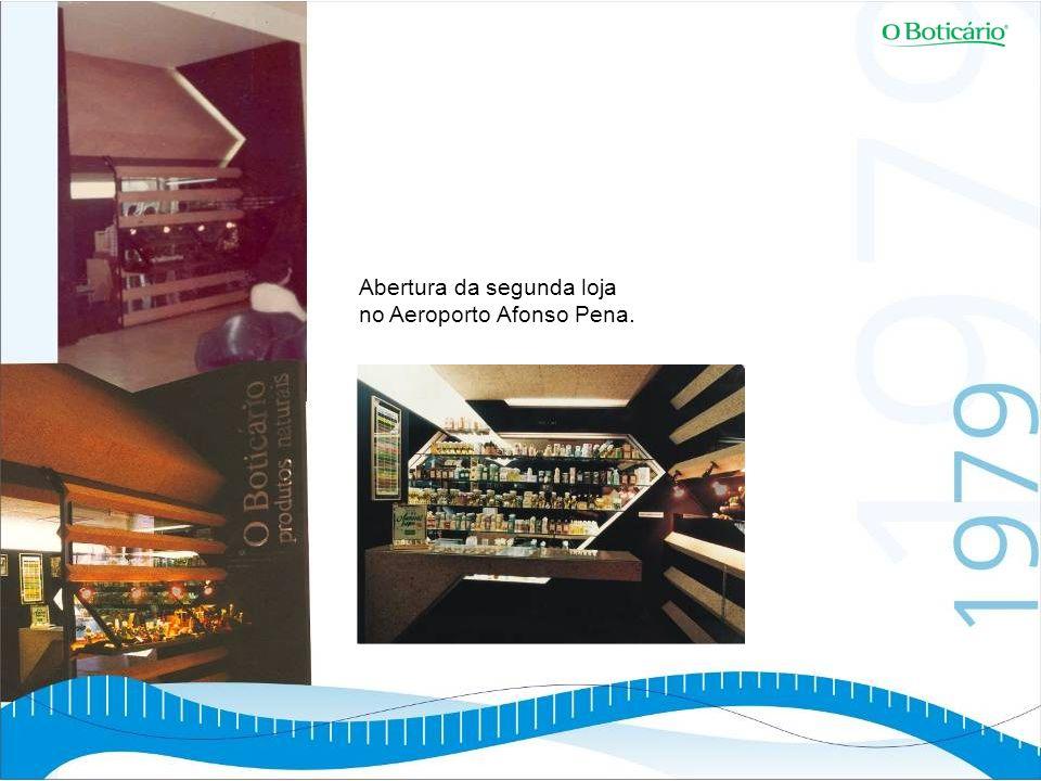 Abertura da segunda loja no Aeroporto Afonso Pena.