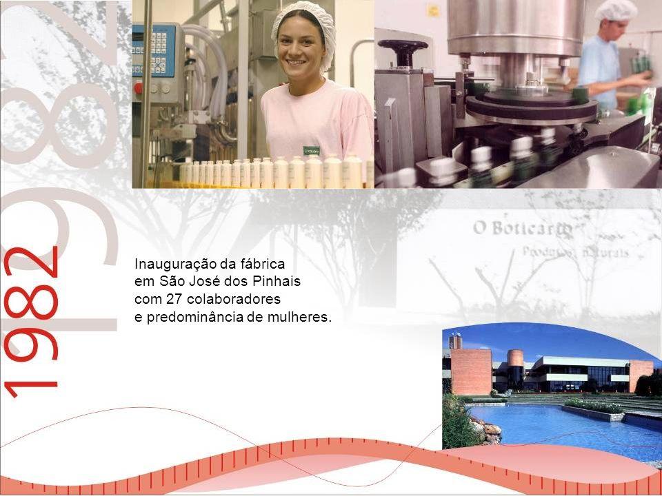 Inauguração da fábrica em São José dos Pinhais com 27 colaboradores