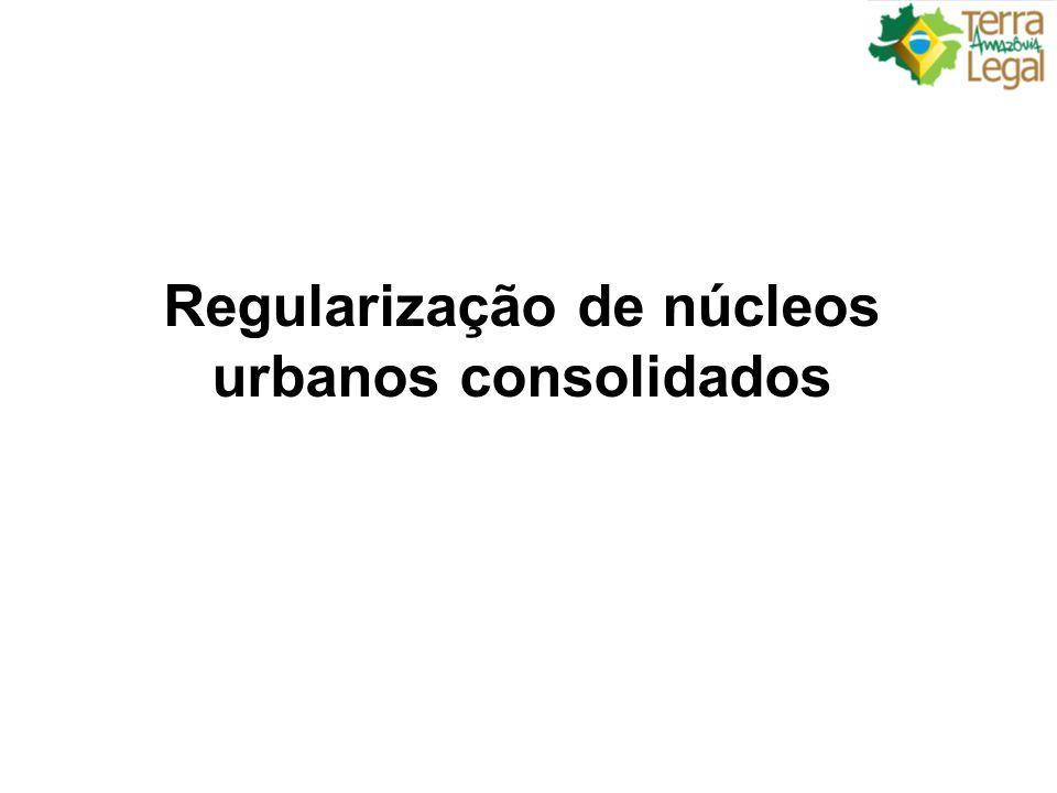 Regularização de núcleos urbanos consolidados
