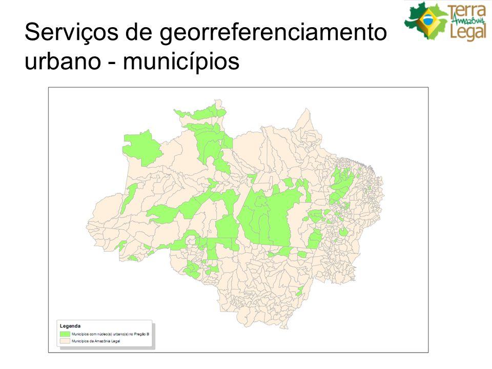 Serviços de georreferenciamento urbano - municípios