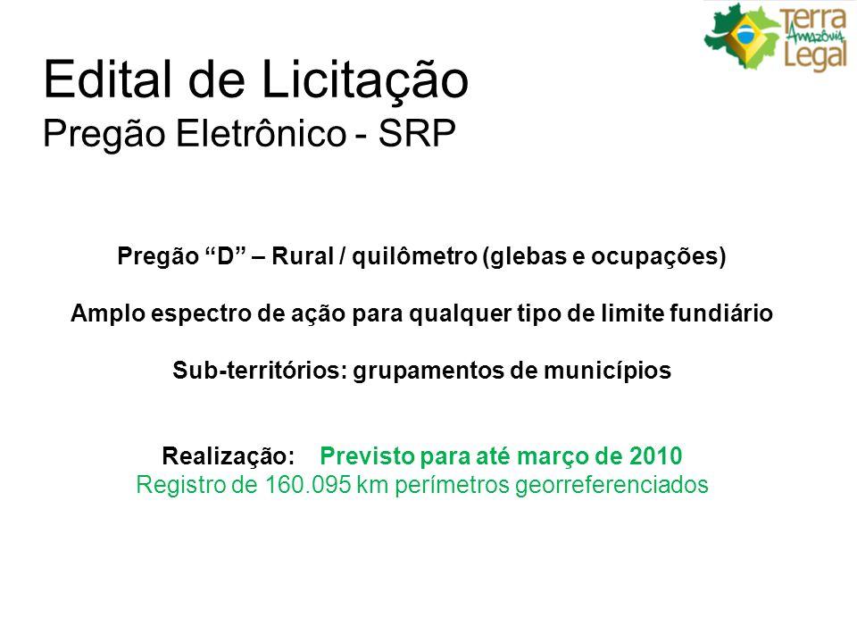 Edital de Licitação Pregão Eletrônico - SRP