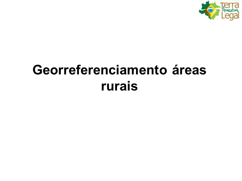 Georreferenciamento áreas rurais