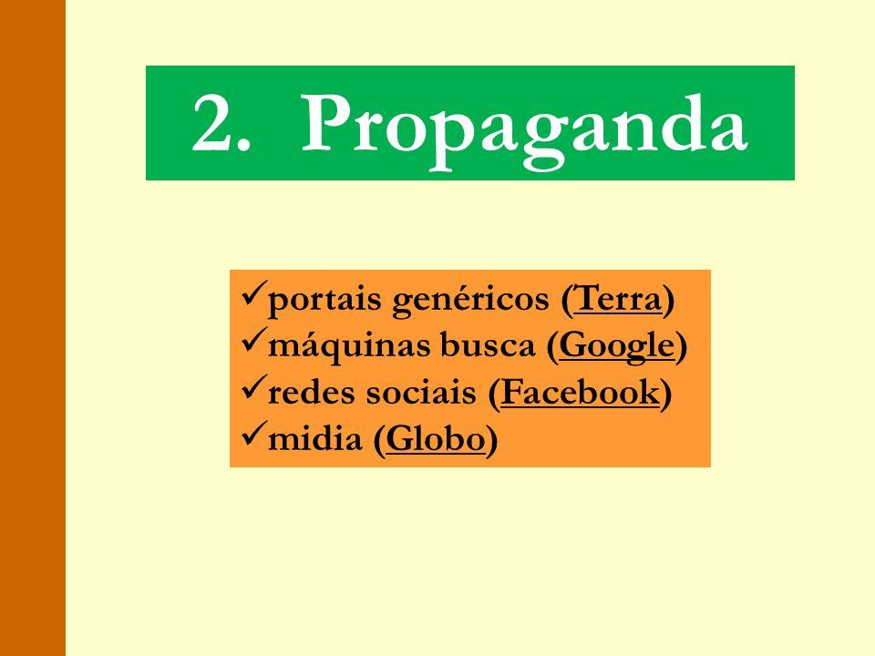 2. Propaganda portais genéricos (Terra) máquinas busca (Google)