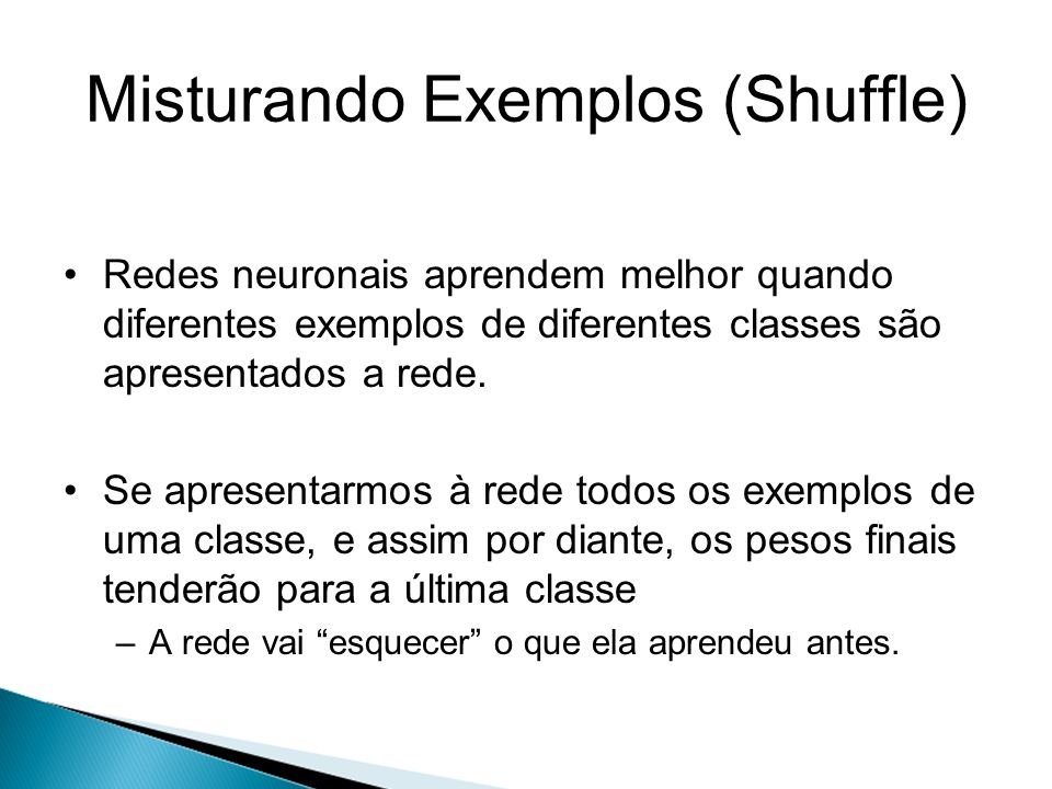 Misturando Exemplos (Shuffle)