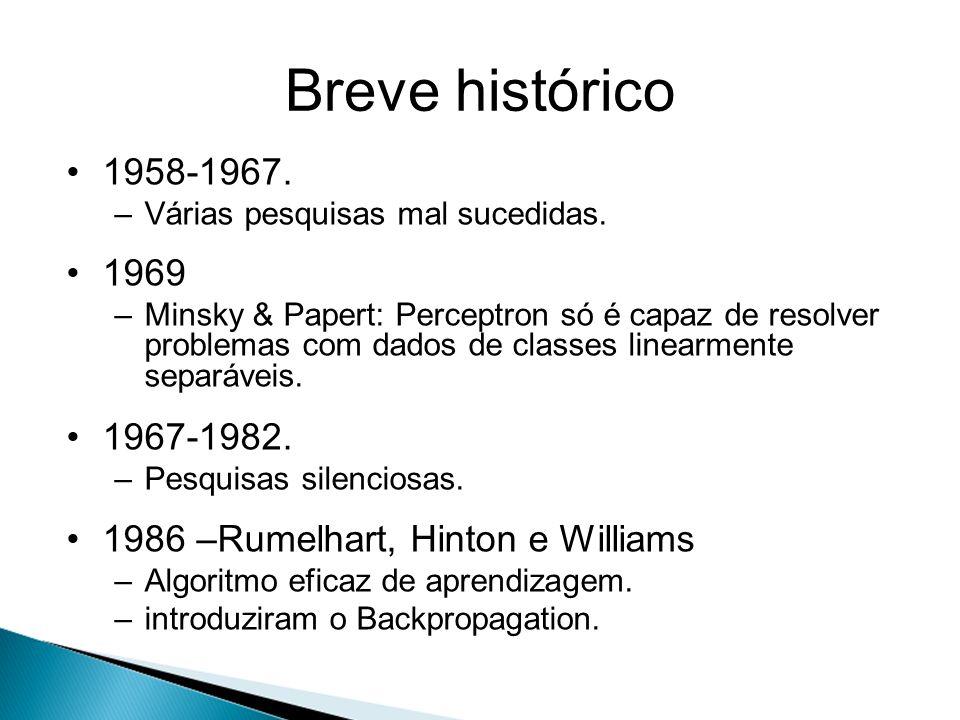 Breve histórico 1958-1967. Várias pesquisas mal sucedidas. 1969.