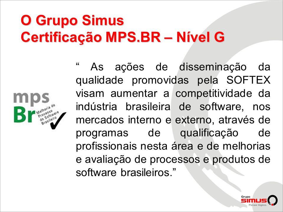Certificação MPS.BR – Nível G