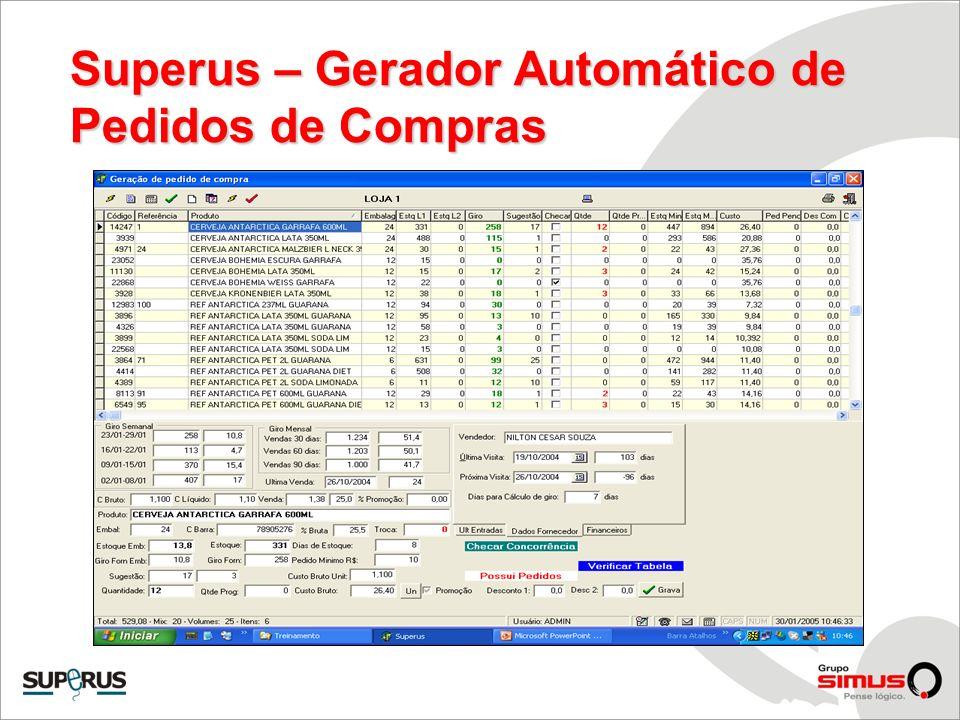 Superus – Gerador Automático de Pedidos de Compras