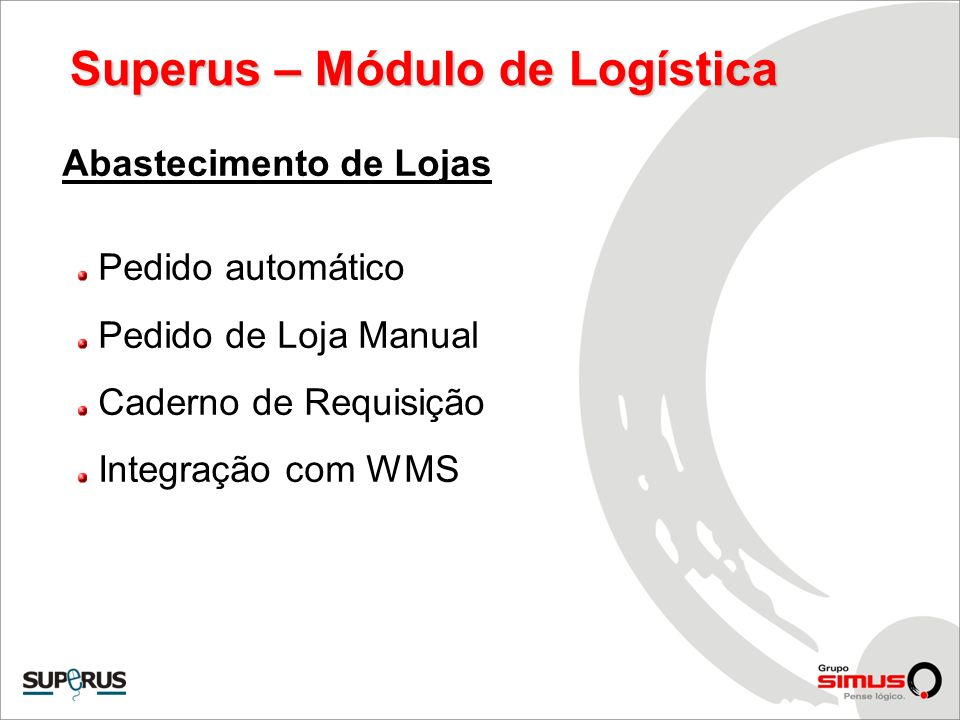 Superus – Módulo de Logística