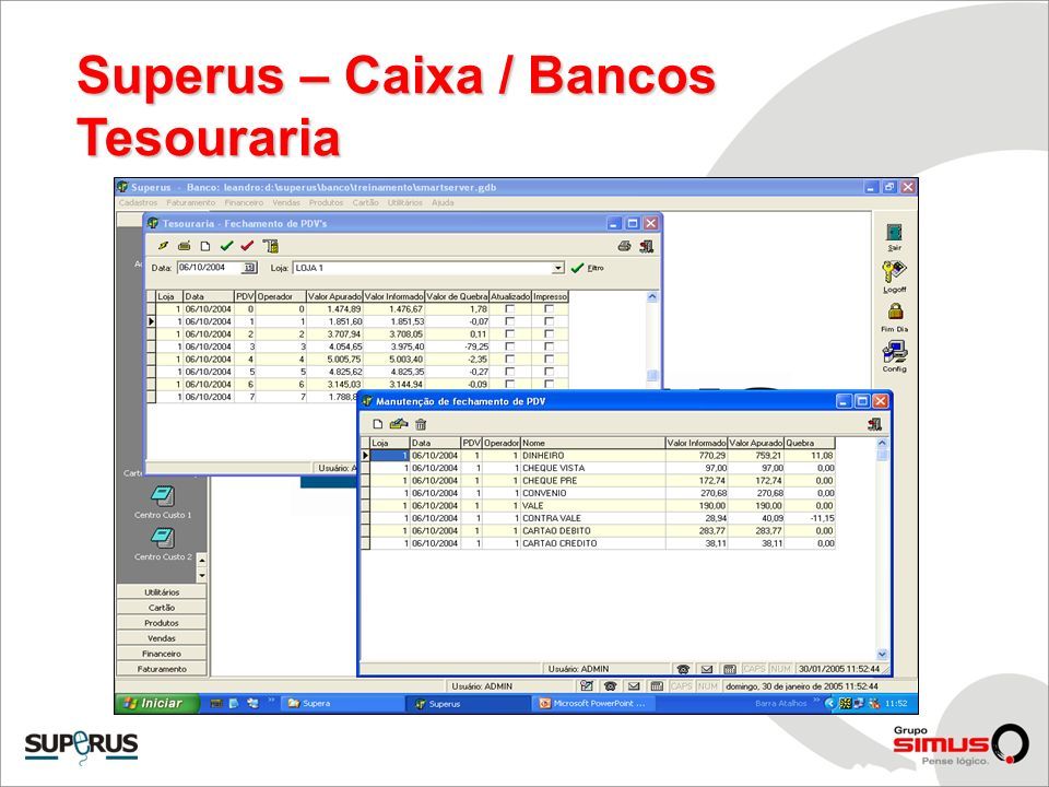 Superus – Caixa / Bancos
