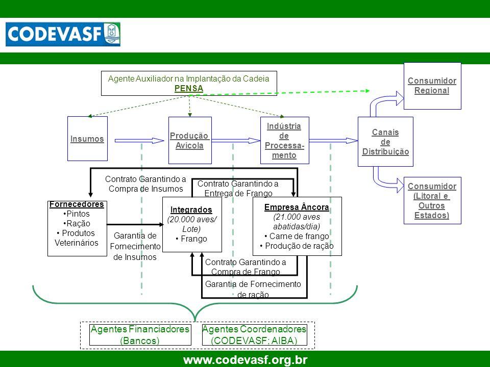 Agentes Financiadores (Bancos) Agentes Coordenadores (CODEVASF; AIBA)