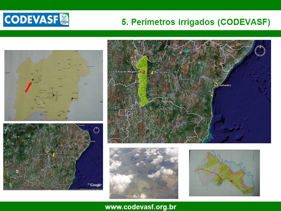 5. Perímetros irrigados (CODEVASF)