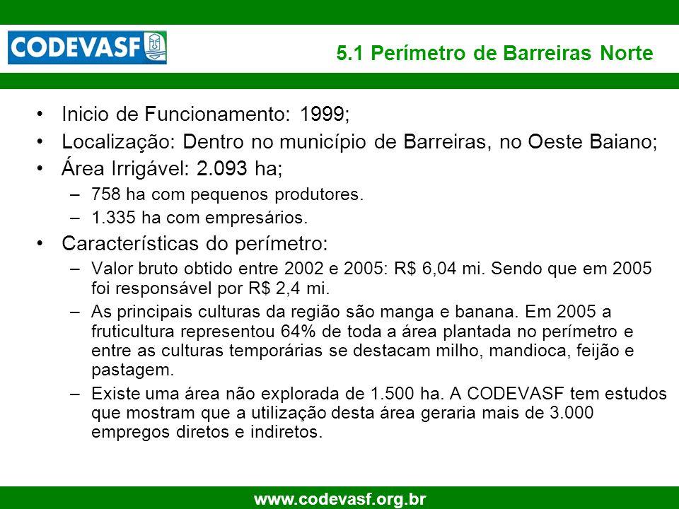 5.1 Perímetro de Barreiras Norte