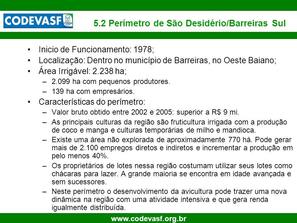5.2 Perímetro de São Desidério/Barreiras Sul