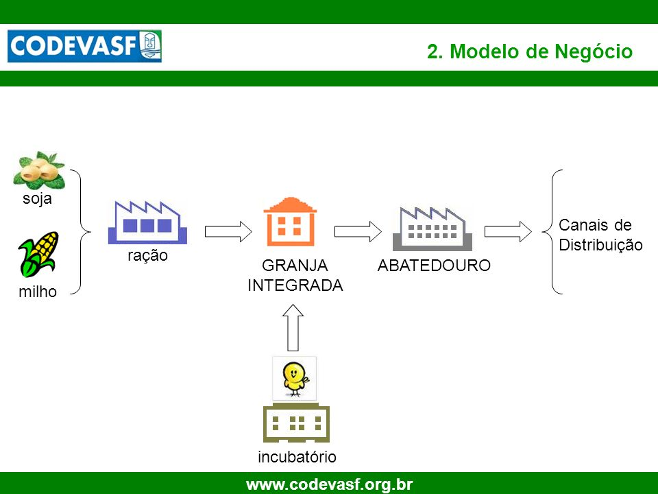 2. Modelo de Negócio soja Canais de Distribuição ração GRANJA