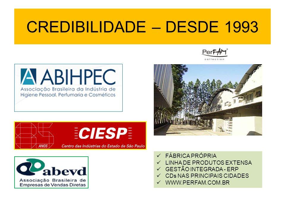 CREDIBILIDADE – DESDE 1993 FÁBRICA PRÓPRIA LINHA DE PRODUTOS EXTENSA