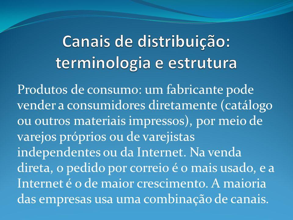 Canais de distribuição: terminologia e estrutura