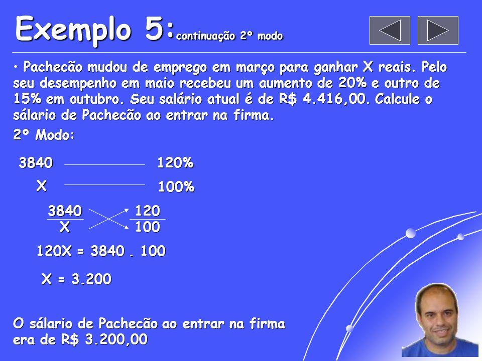 Exemplo 5:continuação 2º modo