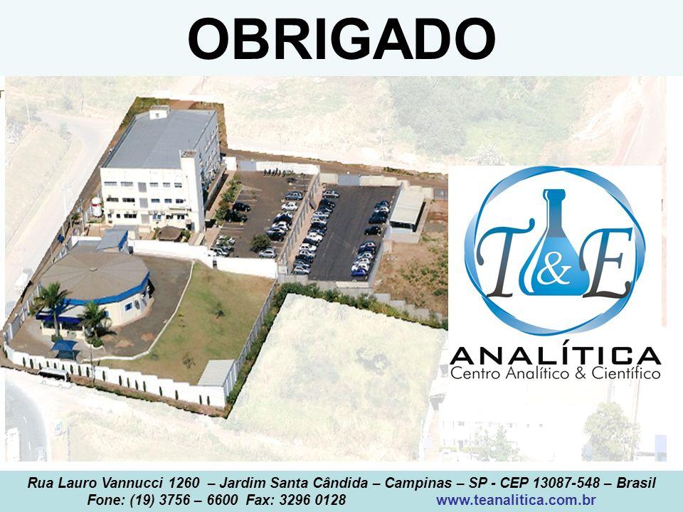 Fone: (19) 3756 – 6600 Fax: 3296 0128 www.teanalitica.com.br
