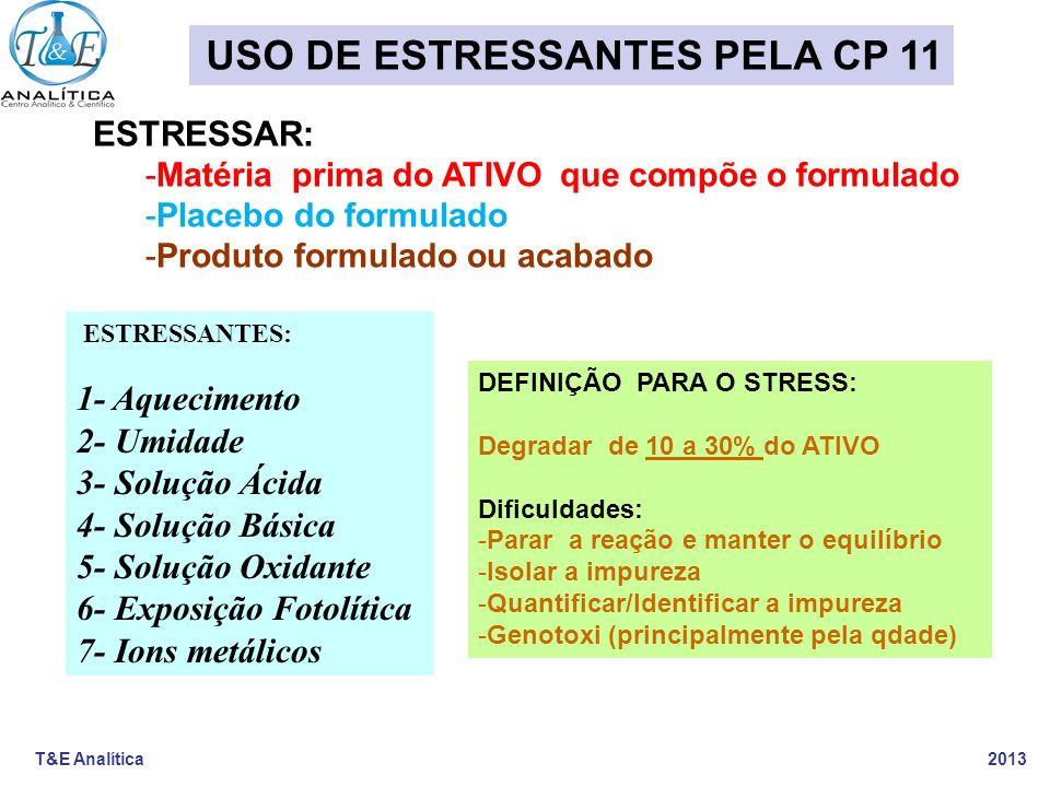 USO DE ESTRESSANTES PELA CP 11
